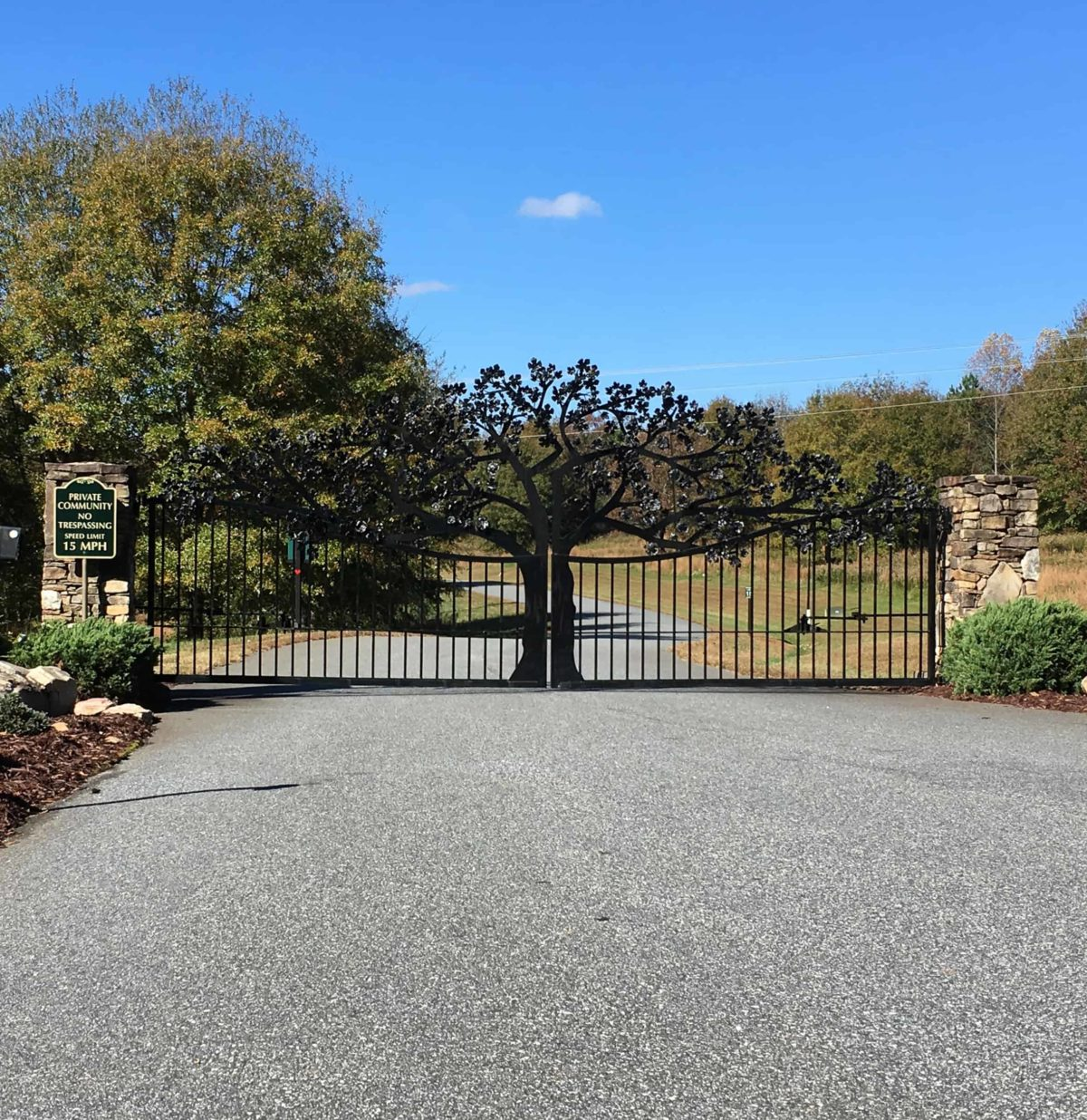 Custom Driveway gate designs in Hickory NC