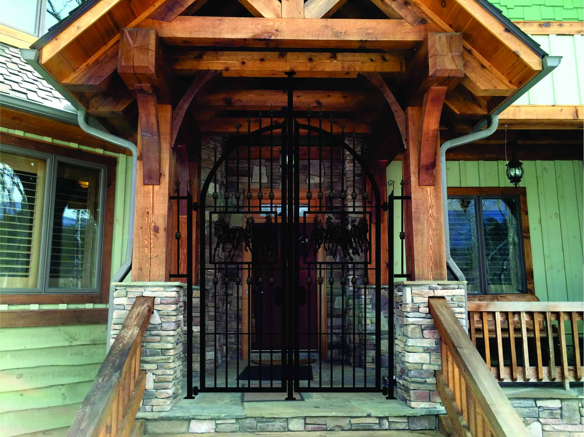 Entry gates created for home in Lenore, North Carolina